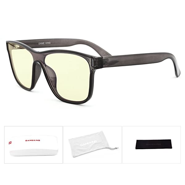 518ce9d09a GAMEKING MEGA TR90 Blue Light Blocking Computer Glasses Gaming Glasses for  Digital Eye Strain Relief (Black)