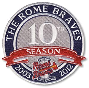 2012 Rome Braves 10th Anniversary Season Patch by Emblem Source