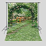 FUERMOR Background 5×7ft Flower Garden Photography Backdrop Studio Photo Props Room Mural RQ014