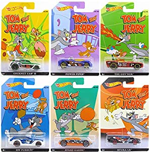 amazoncom hot wheels 2015 tom amp jerry complete set of 6