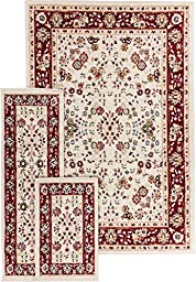Well Woven Miami Bijar Classic Ivory Traditional Area Rug 5X7 Set (4\'5\