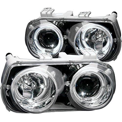 1996 Acura Integra Dual Halo Projector Headlights + 8 Led Fog Bumper Light (Halo Headlights Integra compare prices)