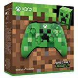 Xbox Wireless Controller/ PC Computer - Minecraft Creeper Green Special Limited Edition (Color: Green)
