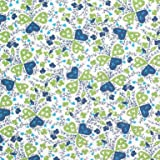 V&A Fabric - Hearts (Green)
