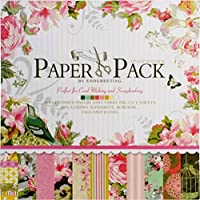 Eno Greeting 12 x12 Inch Decorative Card Making Scrapbooking Paper Pack (24 Patterned Sheets + 3 Die Cut Sheets) - Happy Birthday Design