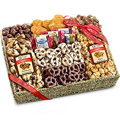 Chocolate, Caramel and Crunch Grand Gift Basket by Golden State Fruit