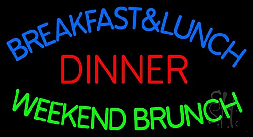 Breakfast Lunch And Dinner Sign Breakfast And Lunch Dinner
