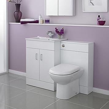 VeeBath Sphinx Bathroom 1100 Minimalist 600 Vanity with WC Unit, D Pan,Cistern