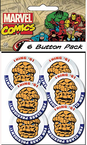 "C&D Visionary Marvel Comics (Retro) Thing President 1.5"" Button (6-Piece)"