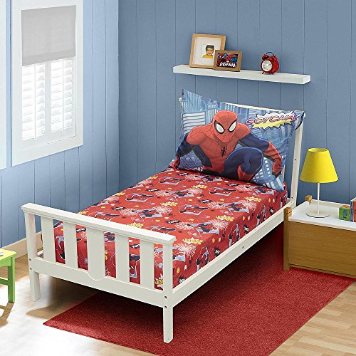 Marvel Comics Spider-Man Toddler Boys 3 Piece Sheet Set - 1