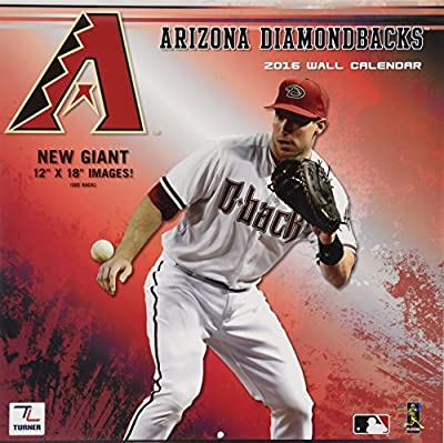 "Turner Arizona Diamondbacks 2016 Team Wall Calendar, September 2015 - December 2016, 12 x 12"" (8011840)"