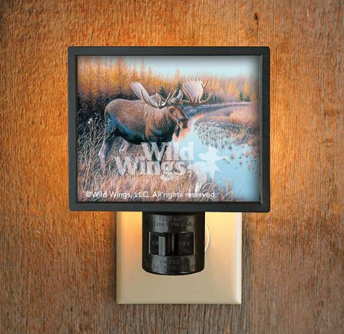 Tamarack Moose Gallery Art Night Light by Jim Kasper