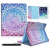 iPad Case, iPad 2/3/4 Case, HAOCOO Folio Stand Smart Full-body Shockproof Protective Cover Case with Pocket for Card and Smart Pen,Fit iPad 2 iPad 3 iPad 4 Gen (9.7 Inch) (Medallion)