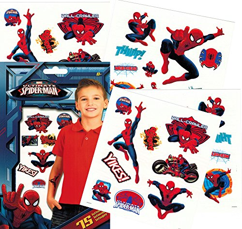 Marvel Spiderman Temporary Tattoos - Pack of 75