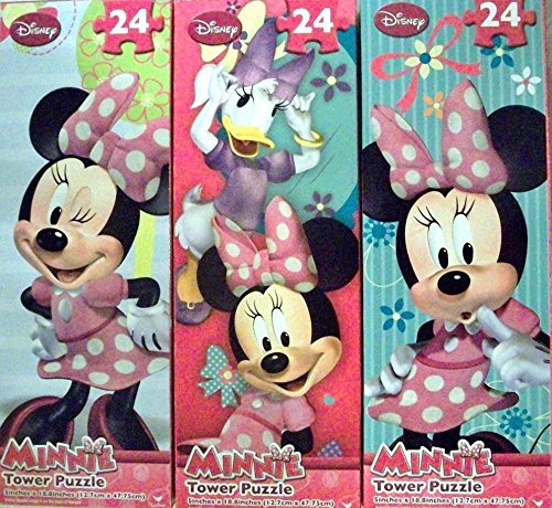 Minnie Tower Puzzle, 24 Pieces - Assorted (Pack of 3)
