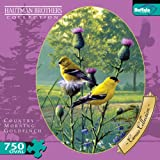 613NVbPj06L. SL160  Buffalo Games Oval Cameo: Hautman   Goldfinches