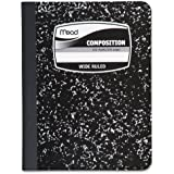 "MEA09910 - Sewn Black Marble Cover Composition Book with Wide Rule 11/32, 100 Sheet, Media Size: 7.5"" x 9.75"""