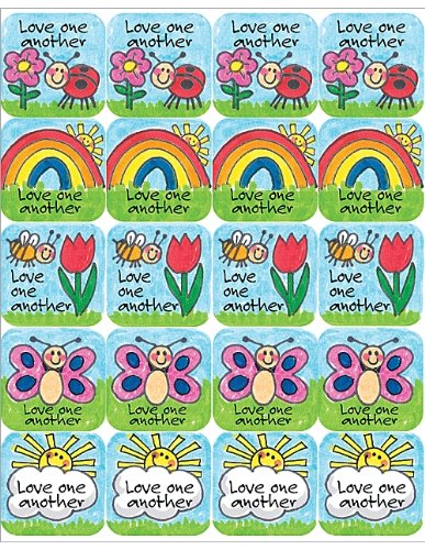 Teacher Created Resources Children's Ten Commandments Stickers, Multi Color (7002)