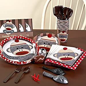 Sock Monkey Red Basic Party Pack for 16