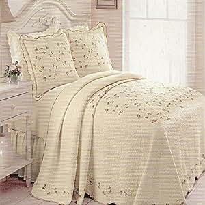 "PHI Modern Heirloom Collection ""Rose Garden"" Twin Bedspread"