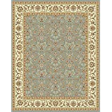 Safavieh Lyndhurst Collection LNH312B Light Blue and Ivory Area Rug, 6 feet by 9 feet (6' x 9')