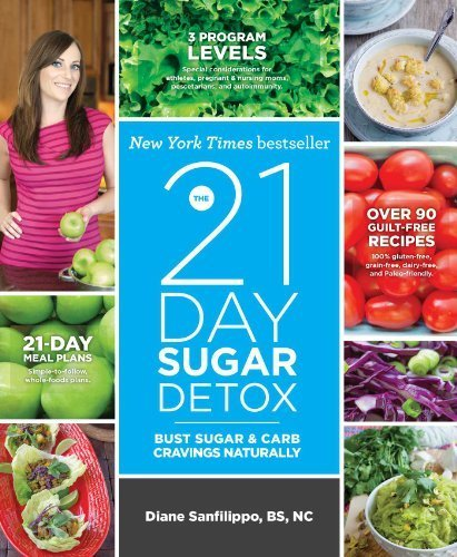 The 21-Day Sugar Detox: Bust Sugar & Carb Cravings Naturally By Sanfilippo Bs Nc, Diane (2013) Paperback