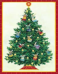 Entertaining with Caspari Angel Tree Christmas Cards (Box of 16)