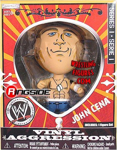 Buy Low Price Jakks Pacific WWE VINYL AGGRESSION 3″ FIGURES #1 – JOHN CENA (B0019KFQW2)