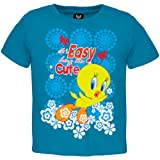 Looney Tunes - Baby-girls Easy Being Cute Infant T-shirt 12-18 Months Blue