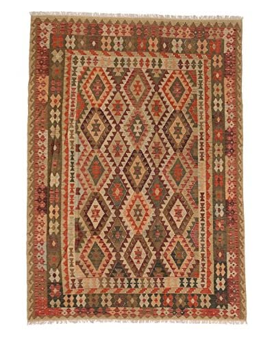 eCarpet Gallery One-of-a-Kind Anatolian Kilim Rug, Copper/Yellow, 6' 11 x 9' 9