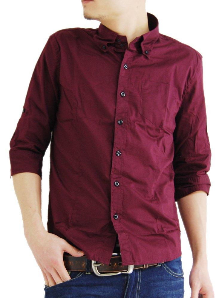(アーケード) ARCADE 6color メンズ 7分袖 シャツ ブロードデュエ ボタンダウンシャツ