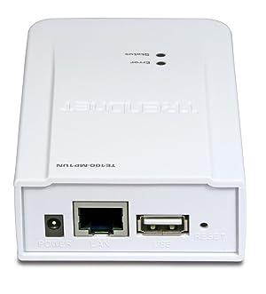 TRENDnet 1-Port Multi-Function Print Server TE100-MP1UN (White)