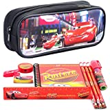 Disney Car Black Pencil Case and Stationery Set