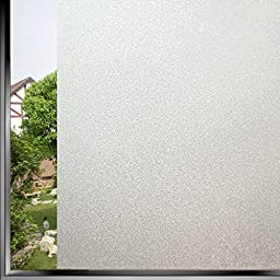 Bloss Etched Self Adhesive Privacy Film Vinyl Window Covering Privacy Film Shower Window Cling 1.5ft Width x 6.5ft Length 1 Roll
