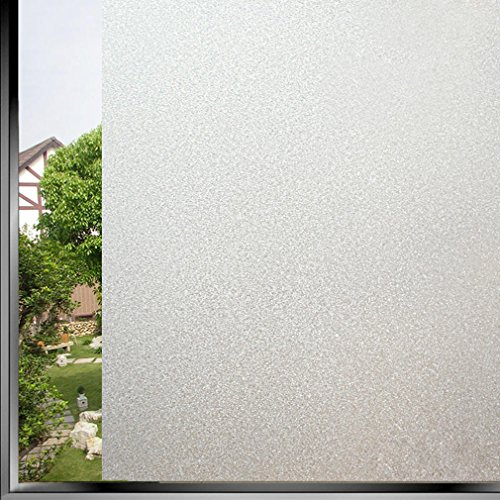Bloss Etched Self Adhesive Privacy Film Vinyl Window Covering Privacy Film Shower Window Cling 1.5ft Width x 6.5ft Length 1 Roll (Small Glass Window compare prices)