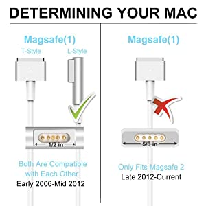 Mac Book Pro Charger, Replacement for Mac Book Pro Charger with 13 Inch Display Before 2012 AC 60W Magsafe1 Connector Power Adapter (Tamaño: 60WL)