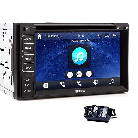 EinCar 2 DVD Double DIN lecteur multimédia 6,2 cm de Navigation GPS pour tableau de bord voiture-tête avec Radio stéréo Audio Digitak performance pour écran tactile avec écran LCD pour appareil photo