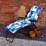 Replacement Garden Lounger Luxury Cushion - Spring Flowers