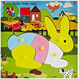Skillofun Skillofun Theme Puzzle Standard Rabbit Knobs Multi Color