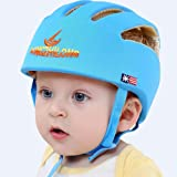Huifen Baby Children Infant Toddler Adjustable Safety Helmet Headguard Protective Harnesses Cap Blue, Providing Safer Environment When Learning to Crawl Walk Playing Baby Summer Infant Blue Hat (Color: Blue, Tamaño: Baby from 6-60 months)