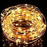 8 Modes Solar String Lights - Upgrade Gotideal® 100 LEDs Starry String Lights - Outdoor Decorative Lighting for Landscape - Faries Garden Homes Christmas Party