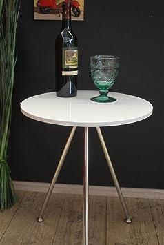beistelltisch nachttisch tisch hochglanz wei couchtisch rund lv da1. Black Bedroom Furniture Sets. Home Design Ideas