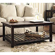 Ashley Furniture Signature Design Mestler Rectangular Cocktail Table, Rustic Brown