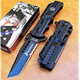 Officially Licensed USMC Marines Spring Assisted P/Knife Tanto Point Blade MA1001B