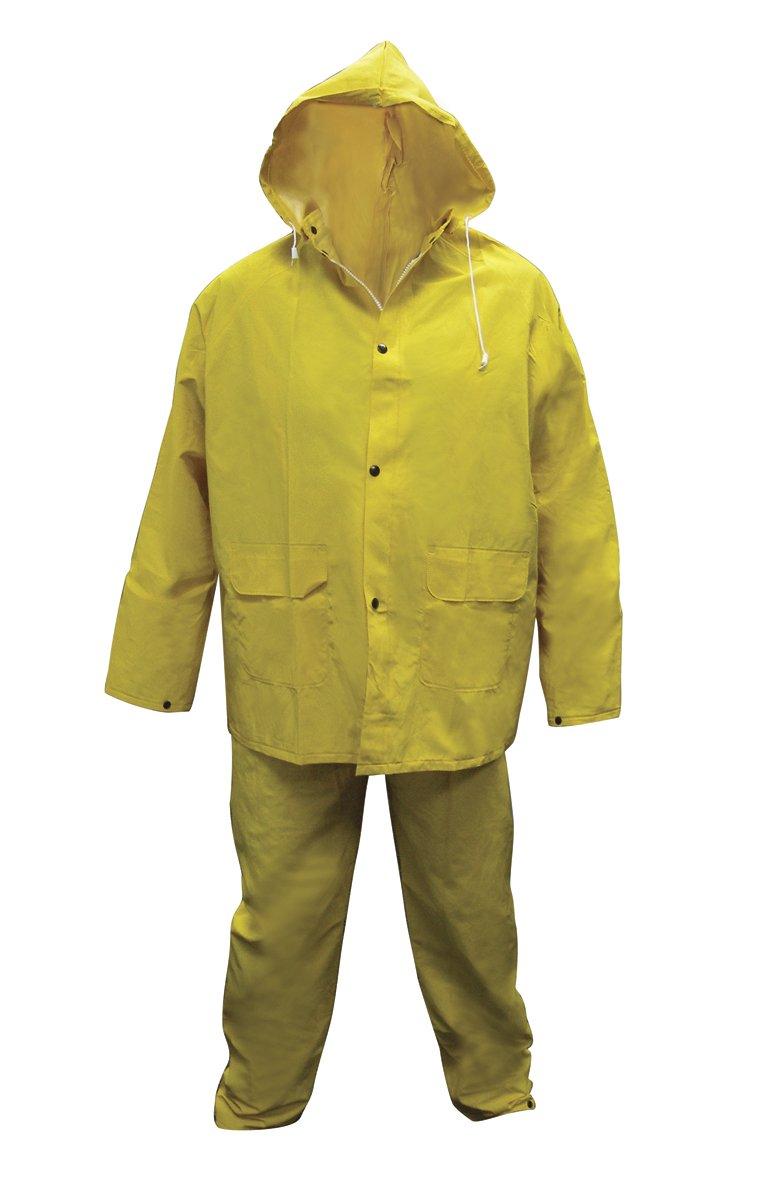 SAS Safety 6812-01 Heavy-Duty PVC/Polyester Rain Suit, Medium sas festplatte 300gb15ksas6gbpslff f617n
