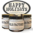Old Factory Candles HAPPY HOLIDAYS set of 3: Christmas Tree