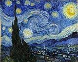 ゴッホ・「星月夜」 プリキャンバス複製画・ ギャラリーラップ仕上げ(6号サイズ)