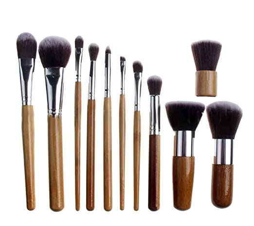 DragonPad 11 Pcs Makeup Brush Set Kabuki Powder Foundation blusher