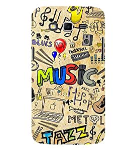 ABSTRACT MUSICAL PATTERN 3D Hard Polycarbonate Designer Back Case Cover for Samsung Galaxy Grand 2 G7102 :: Samsung Galaxy Grand 2 G7106