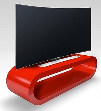 Retro-Stil Hoop Große Retro Rot Hochglanz Tv-Ständer / Schrank 110 cm Breite